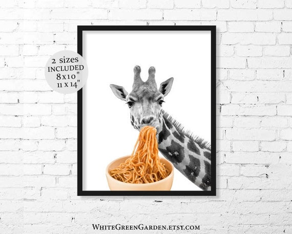 Pasta Poster Funny Artwork for Walls 11 x 14