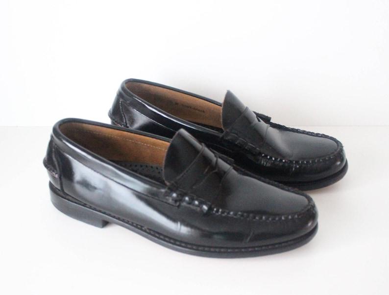 5d0251ec07a97 Vintage Black 100% Genuine Leather Genuine Hand Lasted PLAYBOY PRESTIGE  Slip On Men's Loafers Size US9 UK8 EUR42