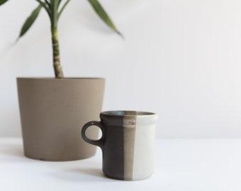Vintage McCoy 1912 Mug // Neutral Colored Stoneware Coffee Mug // Pottery