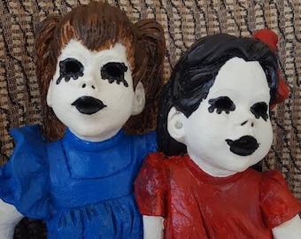 Twin dolls.