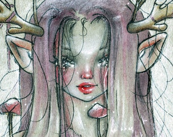 LIMITED EDITION, Fine Art Print, Pop Surrealism, [Rein-Dear]
