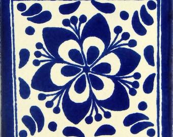 Color y Tradicion 9 Mexican Tiles 4 x 4 Hand Painted Talavera C045