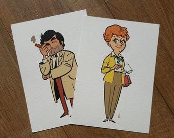 Daytime Detectives A5 Giclée Print