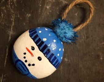 Handmade Christmas Snowman Decoration