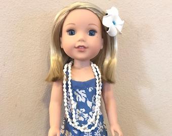 Wellie Wisher Hawaiian Sweetheart Dress - Blue