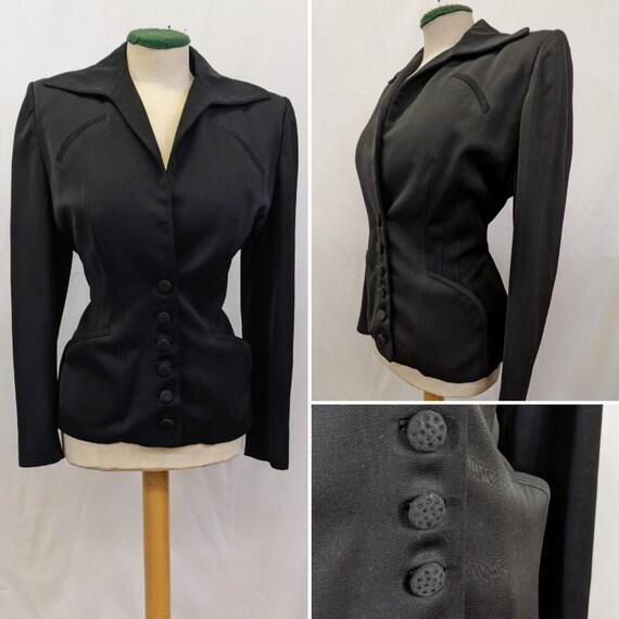 1940s Classic Black Suit Jacket