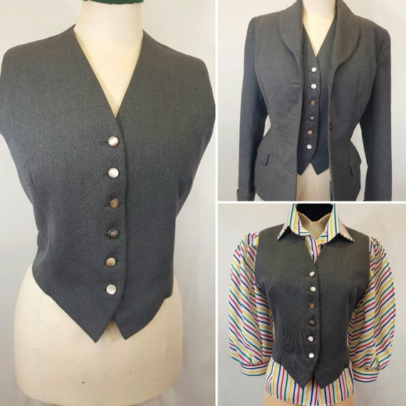 1940s Make Do And Mend Waistcoat