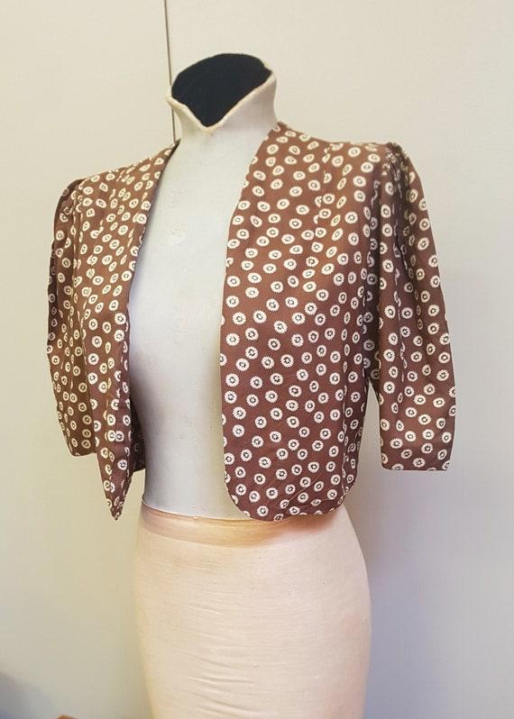 1940s Rayon Bolero Jacket