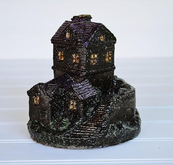 Halloween Decor, Haunted House   Hand Painted Ceramic Halloween Village  House, Halloween Decorations, Halloween Haunted House