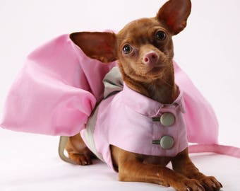 Dog dress clothes costume bridesmaid dress harness with dog leash collar