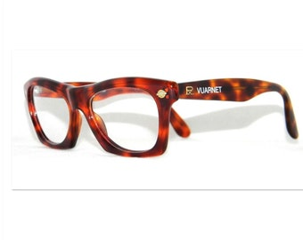 95ebdc7449a4 Eyeglasses Retro Vuarnet 070 scales dark brown Vintage 1980 s - made by  hand in France