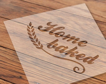 Sourdough bread stencil HOME BACKED suitable for different types of home decoration