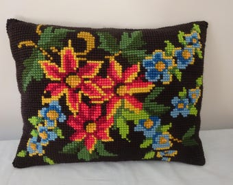 Vintage needlepoint cushion