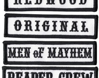 MEN of MAYHEM Patch Badge Iron Or Sew On 10cm x 2cm