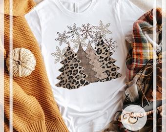 Leopard Christmas Trees Screen Print Transfer (High Heat Formula) // Ready To Press