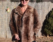 Near Mint M L Persian Lamb Fur Jacket Fur Coat