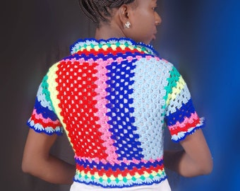 Multicolor shrug/Bolero