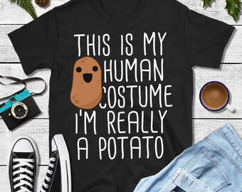 Mad Over Shirts Im in Shape Unfortunately That Shape is A Potato Unisex Premium Tank Top