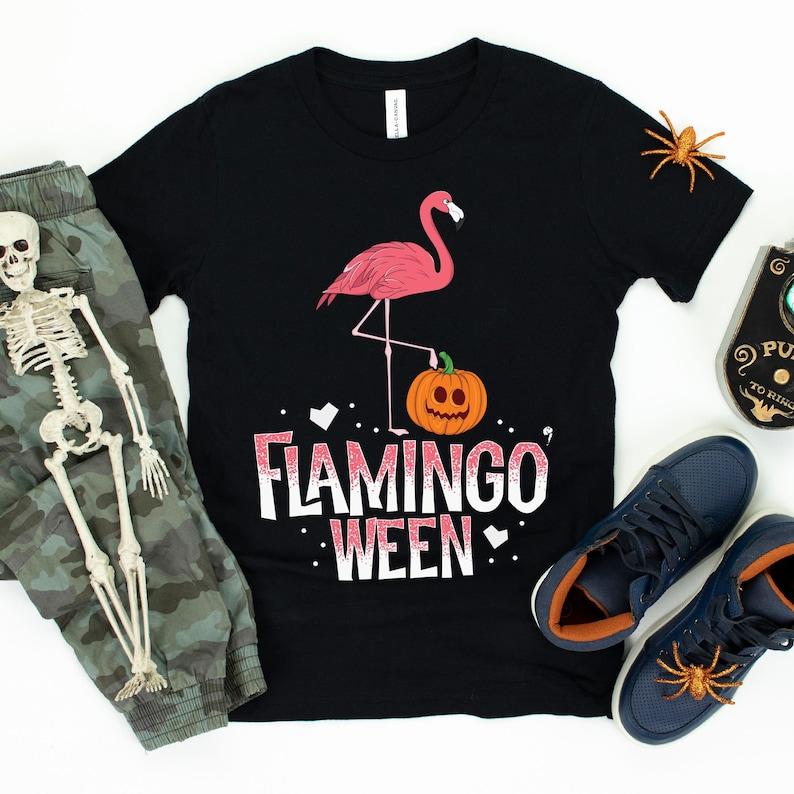 Flamingo-ween / T-Shirt / Tank Top / Hoodie / Witch Shirt / image 0