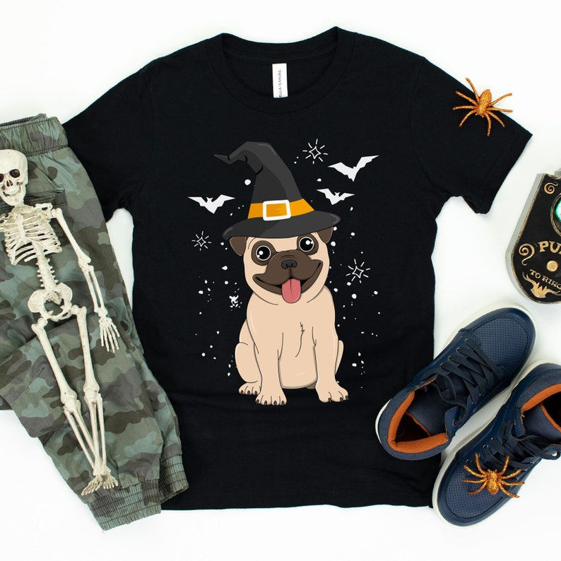 Pug Witch / T-Shirt / Tank Top / Hoodie / Pug Lover / Pug image 0