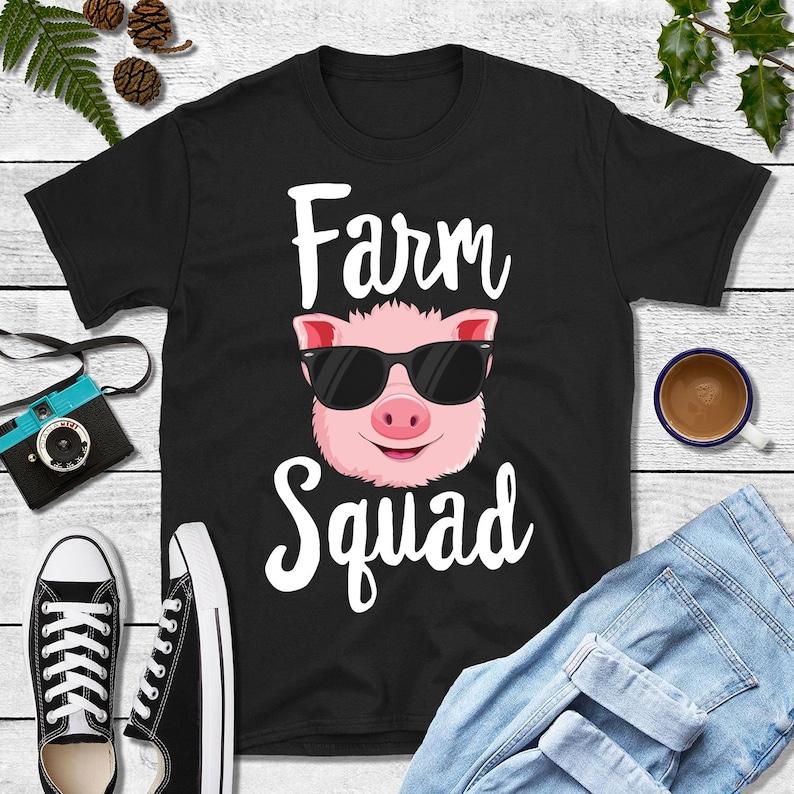 Farm Squad Shirt Mommy Pig Shirt Pig Family Kids Custom Shirt image 0