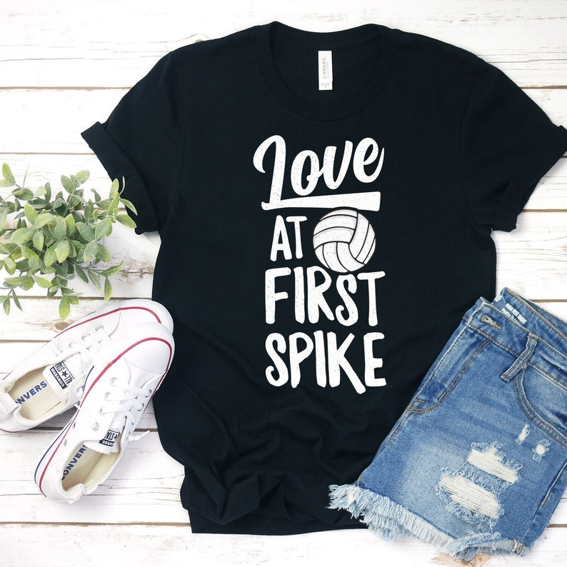 Love At First Spike Shirt Volleyball Shirts Volleyball Gifts image 0