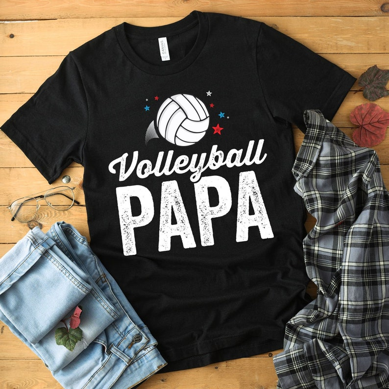Volleyball Papa Shirt Volleyball Tee Girls Volleyball image 0