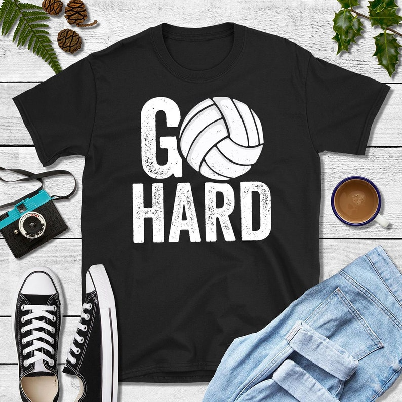 24a0e4e0 Go Hard Shirt Volleyball Shirts Vollyball Gift Volleyball | Etsy
