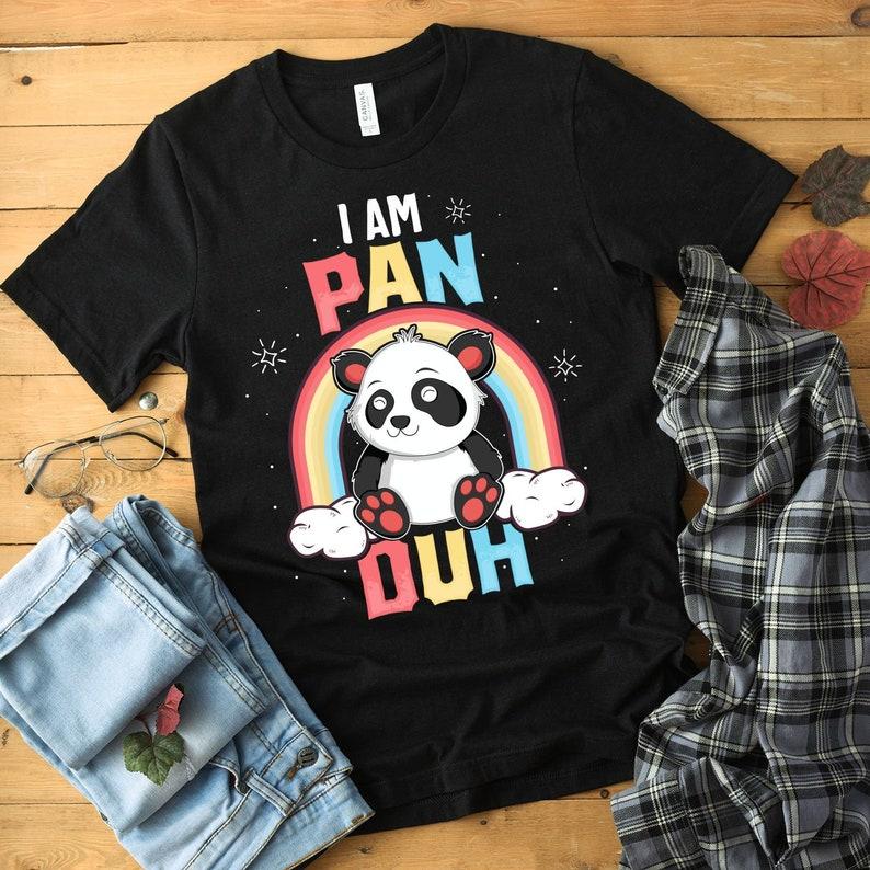I Am Pan Duh Shirt Gay Pride Bisexual Pride Pride Rainbow image 0