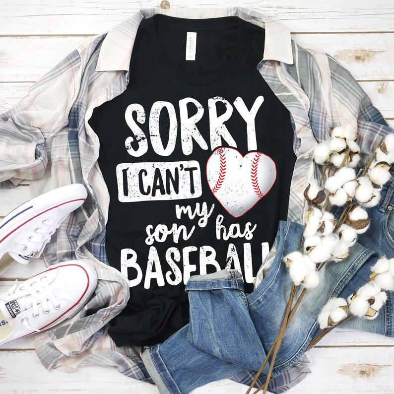 Sorry I Can't My Son Has Baseball Shirt Baseball Grandma image 0