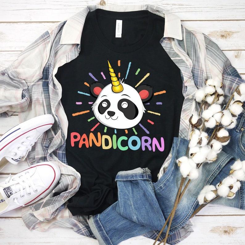 Pandicorn Shirt Boys Shirt Gifts For Kids Panda Gift Panda image 0