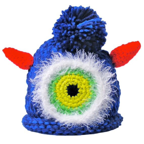 42aa0e152e6 Knitted Baby Monster Beanie Crochet Hat Cap with Pom Pom