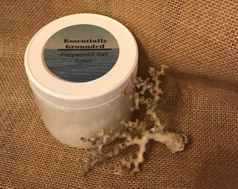 Peppermint Salt Scrub