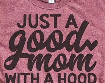 86530593 Boy mom tee. Mom tribe . Mom squad. Mom life. Gift. Boy. Children. Mothers  . Parent. Just a hood mom. Mother's Day personalized