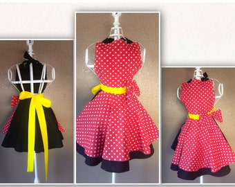 Minnie Mouse inspired childs cosplay apron