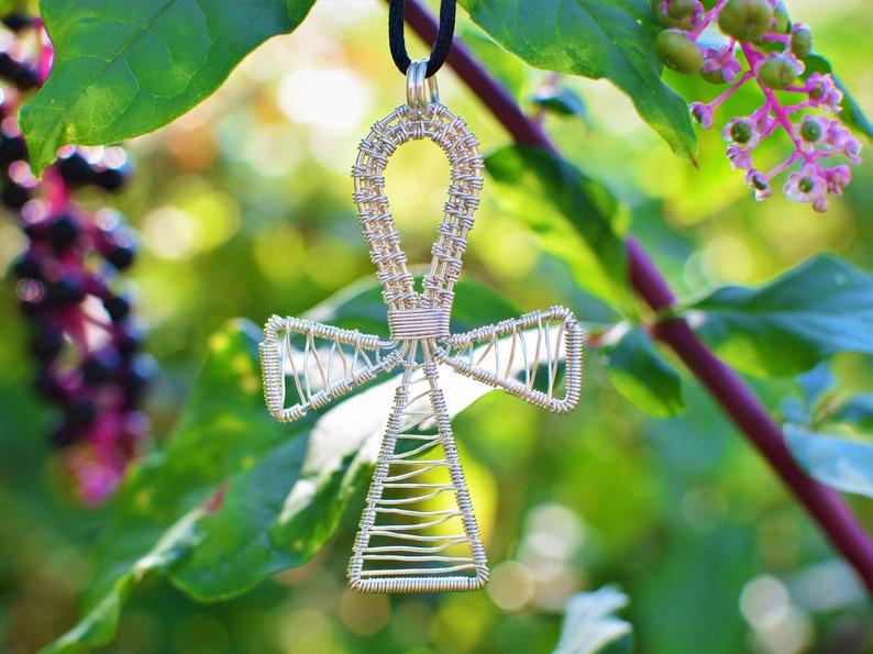 Healing Crystals Crystal Jewelry Crystal Ankh Ankh Copper Pendant Ankh Pendant Ankh Necklace Lapis lazuli Copper Ankh