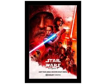"""Star Wars The Last Jedi VIII Movie Millennium Falcon Poster 18x12 36x24 40x27/"""""""