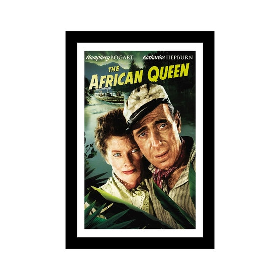 THE AFRICAN QUEEN 11x17 Framed Movie Poster by Wallspace