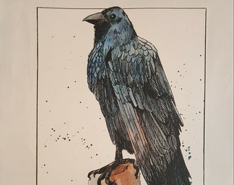 Raven Painting Original Art