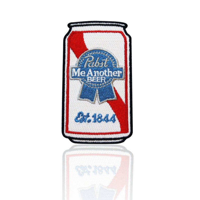 Applique DIY For Jackets Pabst Blue Ribbon Patch Beer Drink Party Iron On Hats Backpacks Shirts Embroidered Sew On