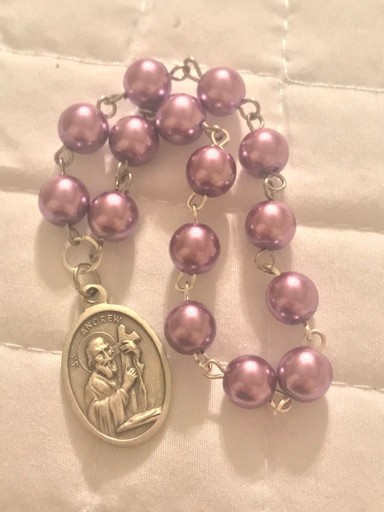 St Andrew Devotional Christmas Chaplet for Special Favors, Glass ...