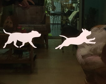 STAFFORDSHIRE BULL TERRIER Decals Staffie Safety stickers for conservatory patio glass french doors / windows and car. Sbt