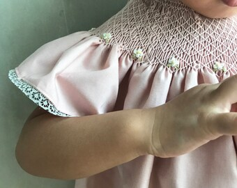 Smocked dress for baby girl
