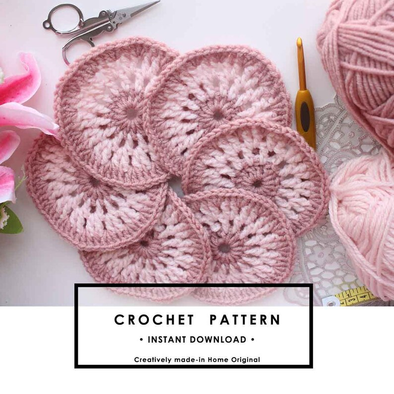 Easy and beautiful crochet coaster pattern image 0
