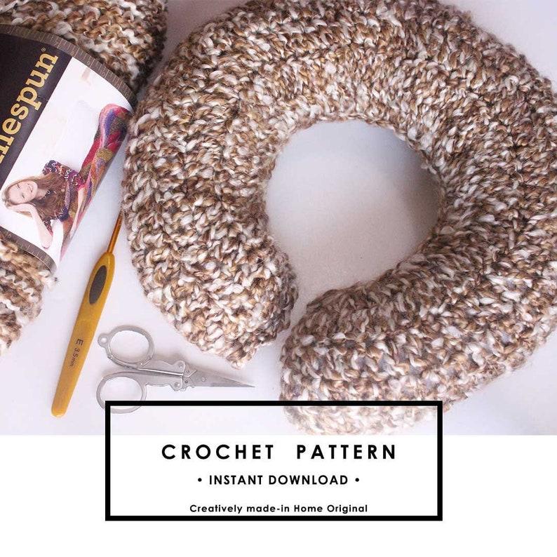 U shaped Travel Pillow Crochet Pattern image 0