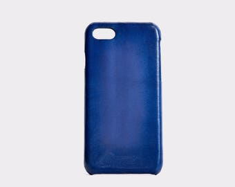 GXD [-Future-iphone case/order production/genuine leather/full leather] deep blue