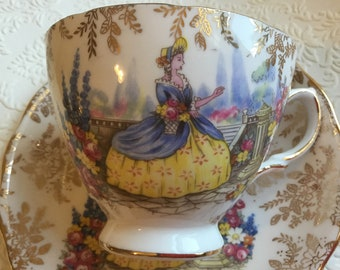 Vintage 1940's Coclough Southern Belle Teacup patented # 8158