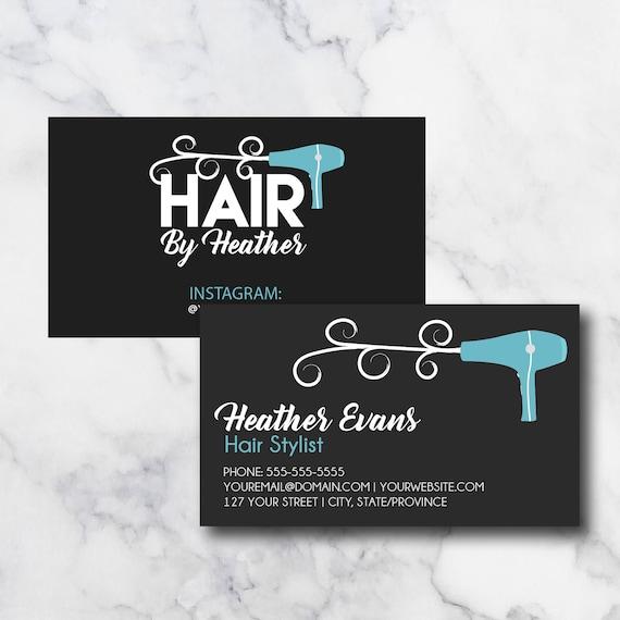 Hair Stylist Hair Dresser Business Cards Etsy