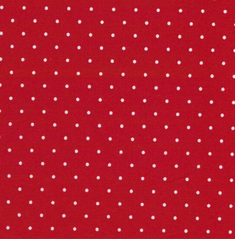 fabric by the yard red and white dot cotton fabric Swiss dot cotton fabric quilters showcase cotton fabric quilting fabric polka dot