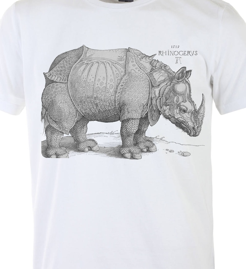 b87505d07d3b5 Albrecht Durer rhinoceros t shirt Renaissance Art Original design tees Men  black Graphic art t shirt Gifts for husband Print Vintage animal